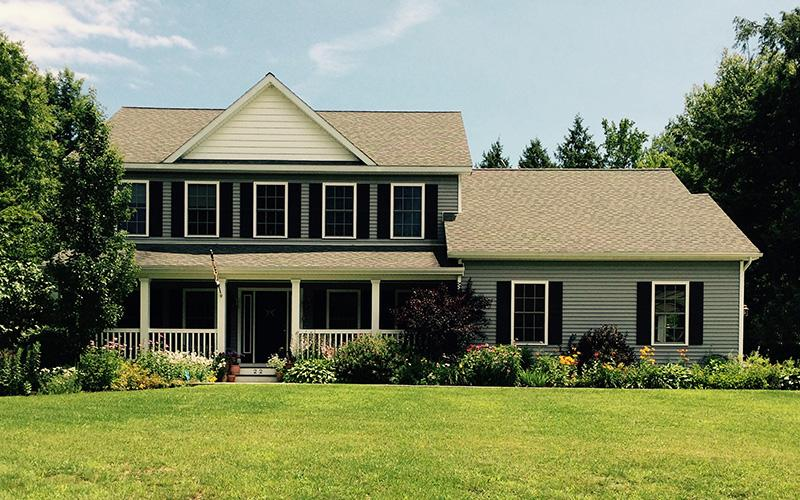 2 Story Colonial with Long Front Porch